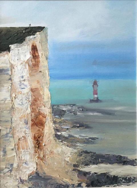 """""""Lighthouse"""", 40x30 cm, oil, pallet knife"""