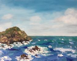 """""""Hele Bay"""", 40x50 cm, oil, pallet knife"""