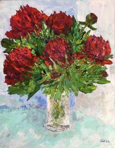 Happy birthday 50x40 cm, acrylic on canvas, pallet knife
