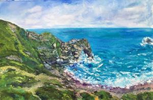 Durdle door 40x60cm Oil on canvas, pallet knife